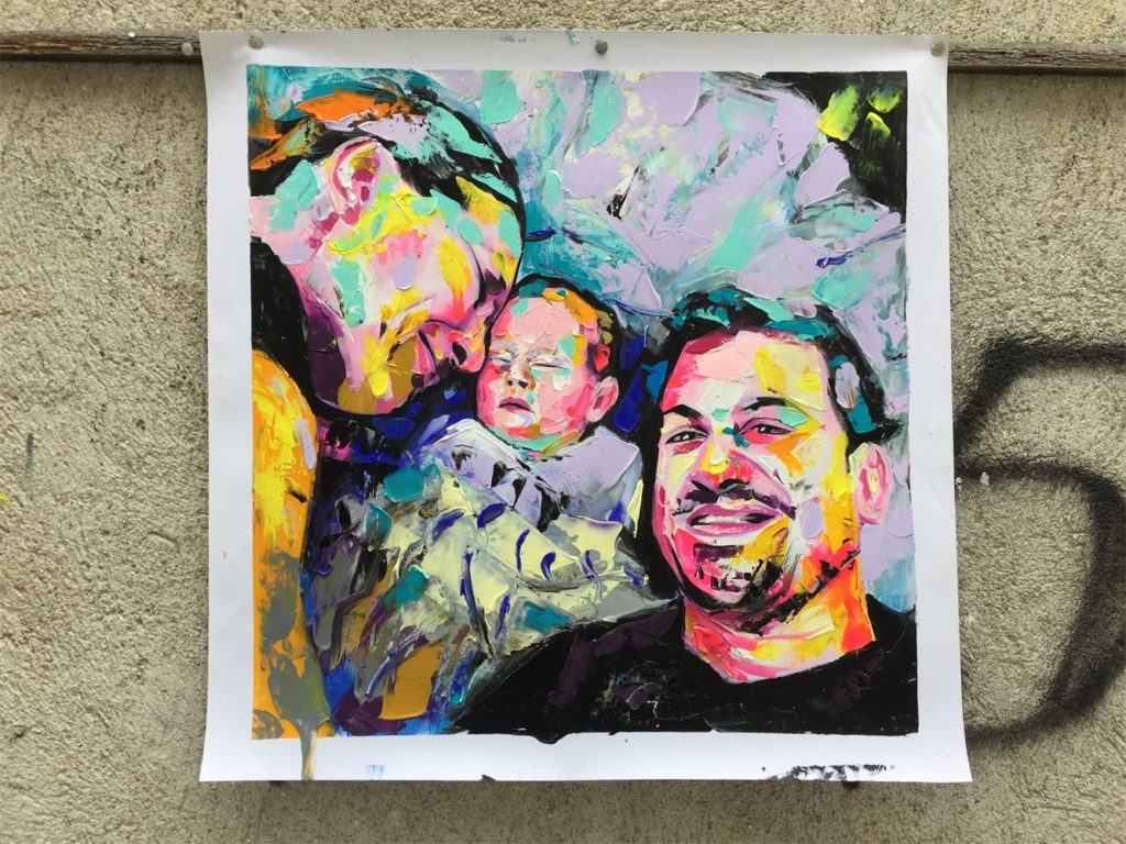 family portrait in francoise nielly style