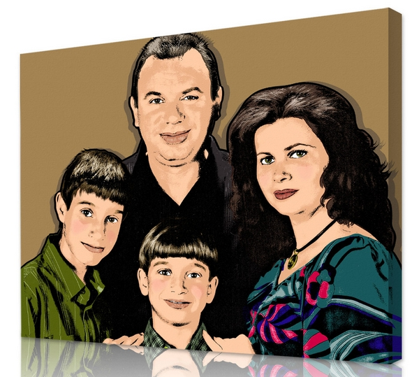 family pop art painting