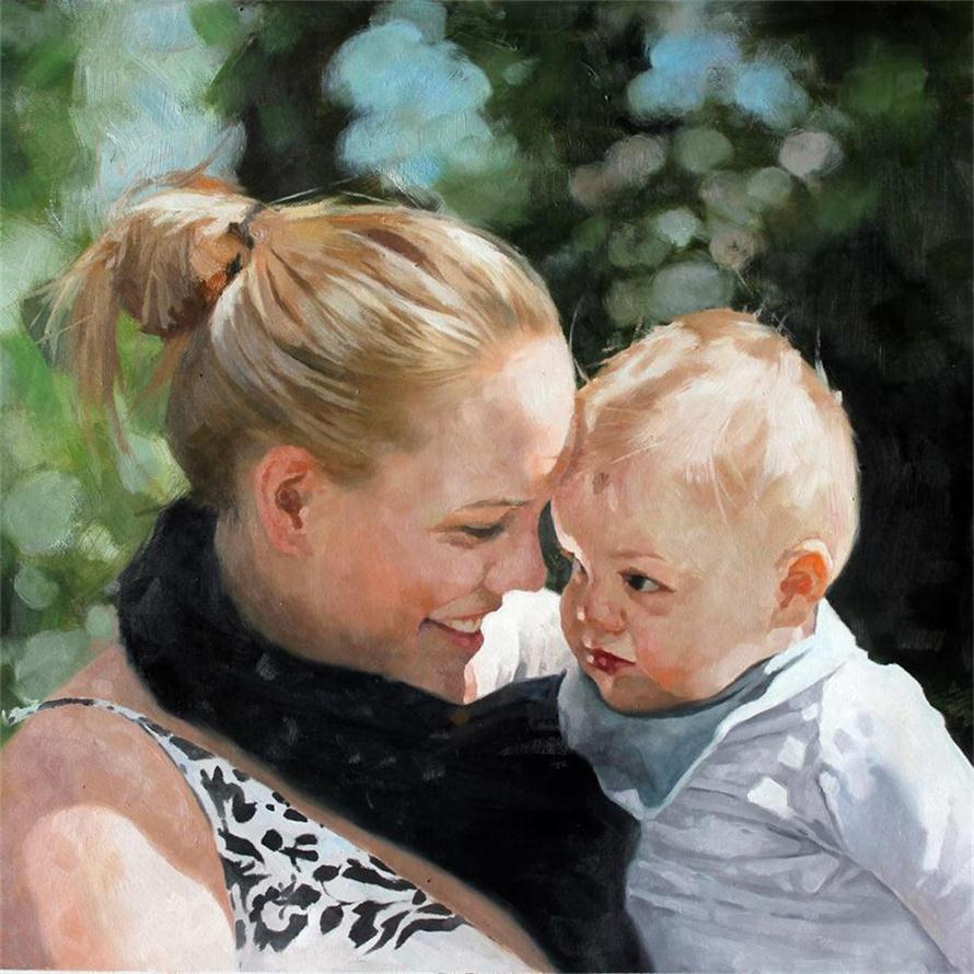 Family Portraits From Photos 100 Handpainted Oil Painting